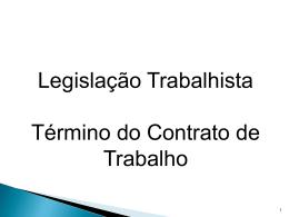 término do contrato de trabalho - Universidade Castelo Branco