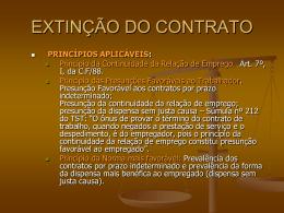 EFEITOS DOS CONTRATOS DE TRABALHO