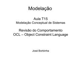 Modelação de Sistemas: Comportamento