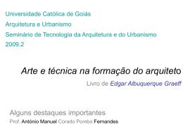 Arte e técnica na formação do arquiteto