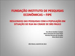 Perfil socioeconômico dos moradores de rua da área central, 2000