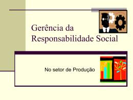 Gerência da Responsabilidade Social