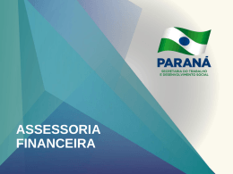Assessoria Financeira - Secretaria do Trabalho e Desenvolvimento