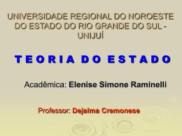 UNIVESIDADE REGIONAL DO NOROESTE DO