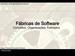 Fabricas de Software - Centro de Informática da UFPE