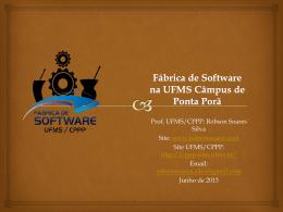 Fábrica de Software UFMS Robson 2013