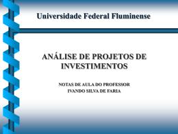 Slides ANÁLISE Projetos1 - Universidade Federal Fluminense