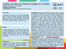 Análise da Obra de Vilanova Artigas em Curitiba Fernando Flores