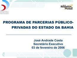 Programa de Parcerias Público-Privadas do Estado da - Sefaz-BA