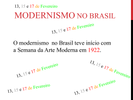 Modernismo - fases
