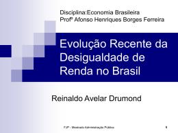 Evolução da desigualdade na renda familiar per capita no Brasil