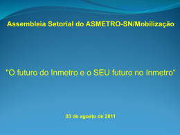 Assembleia Setorial do ASMETRO