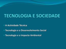 Recurso – PPT Tecnologia e Sociedade