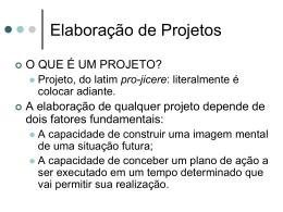 lanejamento de projetos.