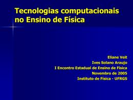Tecnologias computacionais no ensino de Física