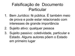 Falsificação de Documento Particular