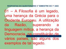 RESPOSTAS DO QUESTIONÁRIO 3° BIMESTRE DO 1° ANO