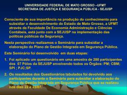 UNIVERSIDADE FEDERAL DE MATO GROSSO –UFMT