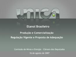 Produção de etanol - Câmara dos Deputados