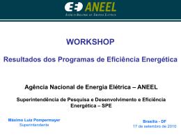 Resultados dos Programas de Eficiência Energética
