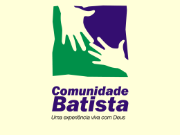 Slide 1 - Comunidade Batista do Bueno