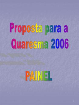 Preparação para a Quaresma 2006