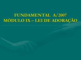 FUNDAMENTAL A MÓDULO VI – ROTEIRO 3