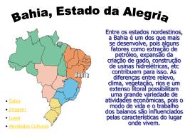 Bahia, estado da alegria- 2