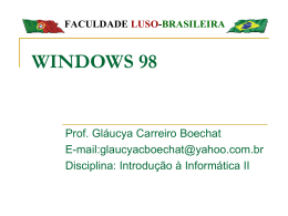 WINDOWS 98 - Centro de Informática da UFPE