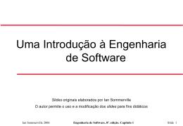 Engenharia de Software, 8ª. edição. Capítulo 1