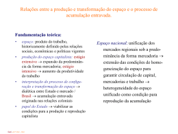 As transformações da estruturação do espaço nacional Tema 4