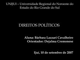 Direitos políticos - Capital Social Sul
