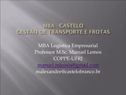 Planejamento e Administração do Transporte de Carga: Principais