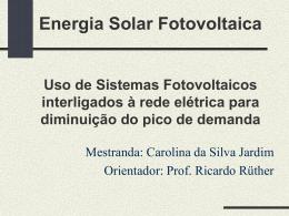 CEMIG - Uso de Sistemas Fotovoltaicos interligados à rede
