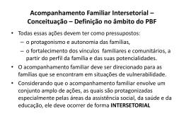 Acompanhamento Familiar Intersetorial – Conceituação – Definição