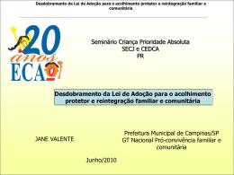 Lei de Adoção - Secretaria do Trabalho e Desenvolvimento Social