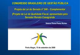 Apresentação no Congresso em Porto Alegre
