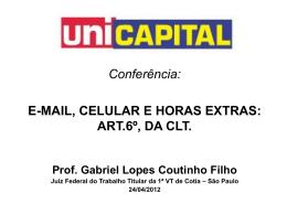 Art.62,I, da CLT - Gabriel Lopes Coutinho Filho