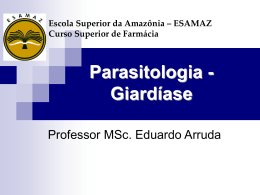 Giardiase - Página inicial