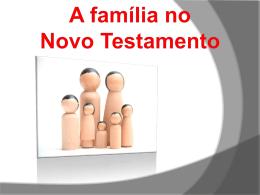 a familia no Novo Testamento