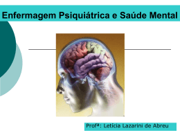 Enfermagem Psiquiátrica e Saúde Mental