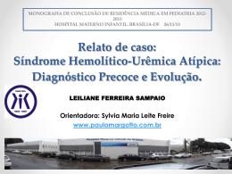 Síndrome Hemolítico-Urêmica Atípica