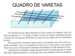 QUADRO DE VARETAS