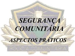 Segurança Comunitária e Sociedade