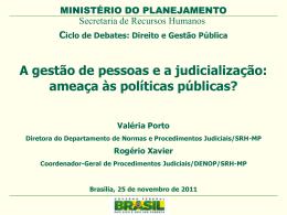 A gestão de pessoas e a judicialização: ameaça às