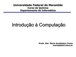 Introdução à Computação - DEINF/UFMA