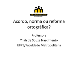 ACORDO, NORMA OU - Ynah de Souza