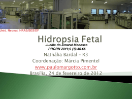 Hidropsia Fetal - Paulo Roberto Margotto