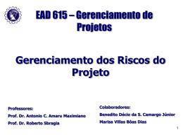 Aula 9 - Gerenciamento dos Riscos do Projeto