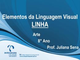 elementos da linguagem visual LINHA